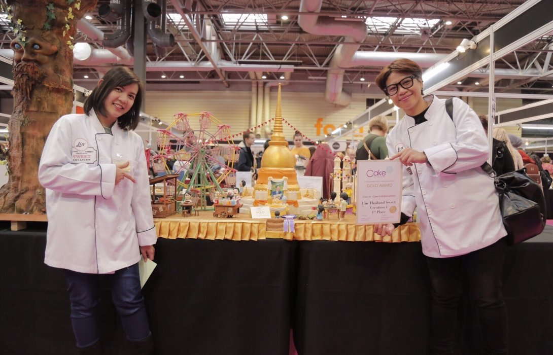 สร้างสรรค์เค้กน้ำตาลปั้นสัญชาติไทย ร่วมคว้าแชมป์อันดับ1 เวที Cake International 2017