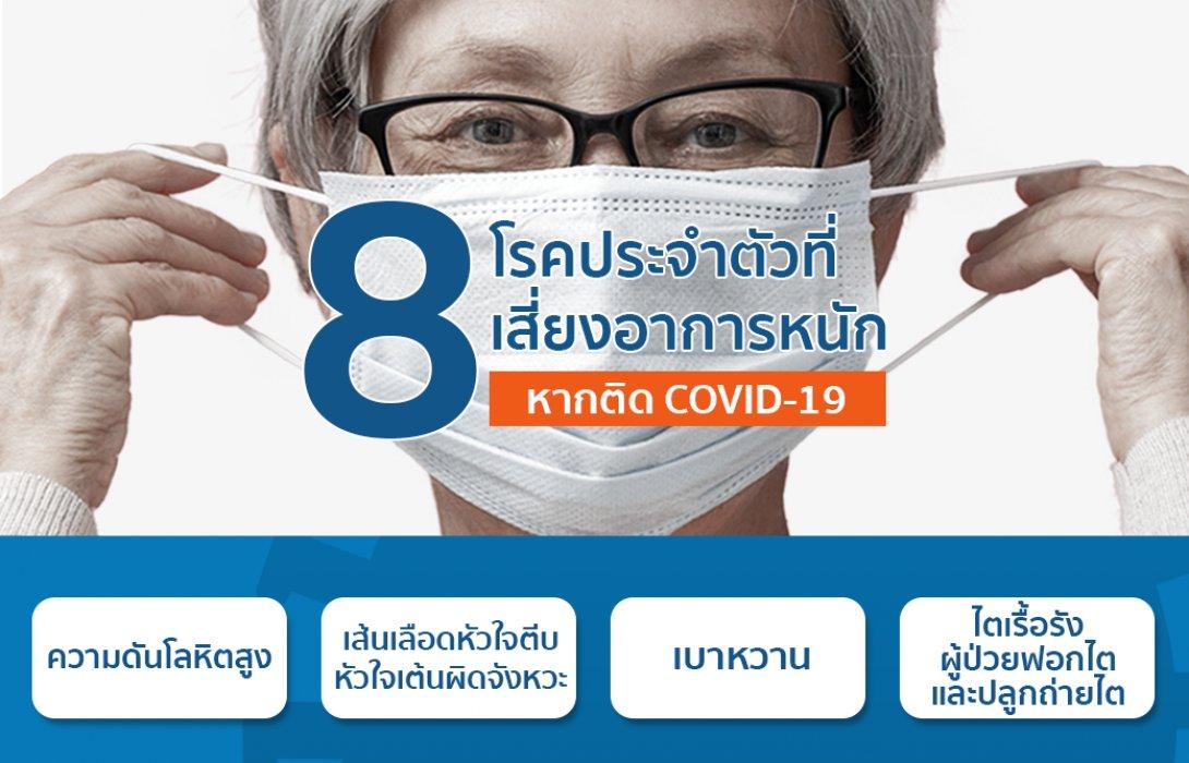 เช็คด่วน!! 8 โรคประจำตัวอะไร ? กลุ่มเสี่ยงอาจมีอาการรุนแรงหากติดโควิด-19