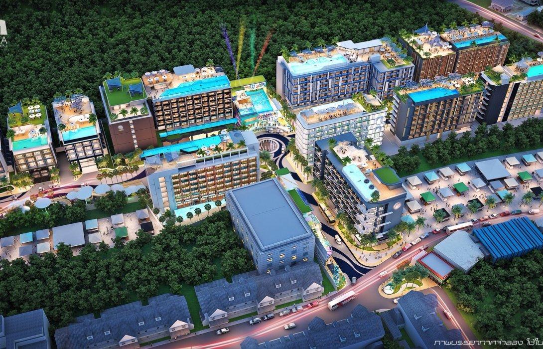 """ทุนพัฒนาที่ดินภูเก็ตลุยสร้างโรงแรมขาย <br> ทุ่ม 5.5 พันล้าน ผุด """"เดอะบีชพลาซ่า"""" 11 อาคาร"""