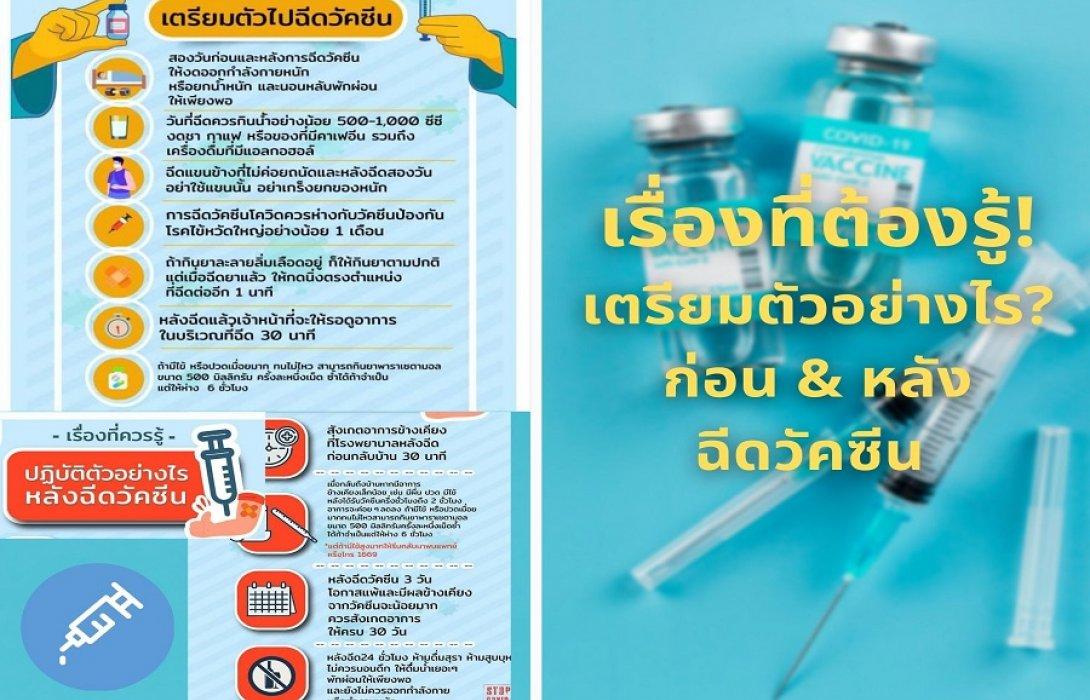 เรื่องที่ต้องรู้!! เตรียมตัวอย่างไร? ก่อน & หลังฉีดวัคซีนป้องกันโควิด-19