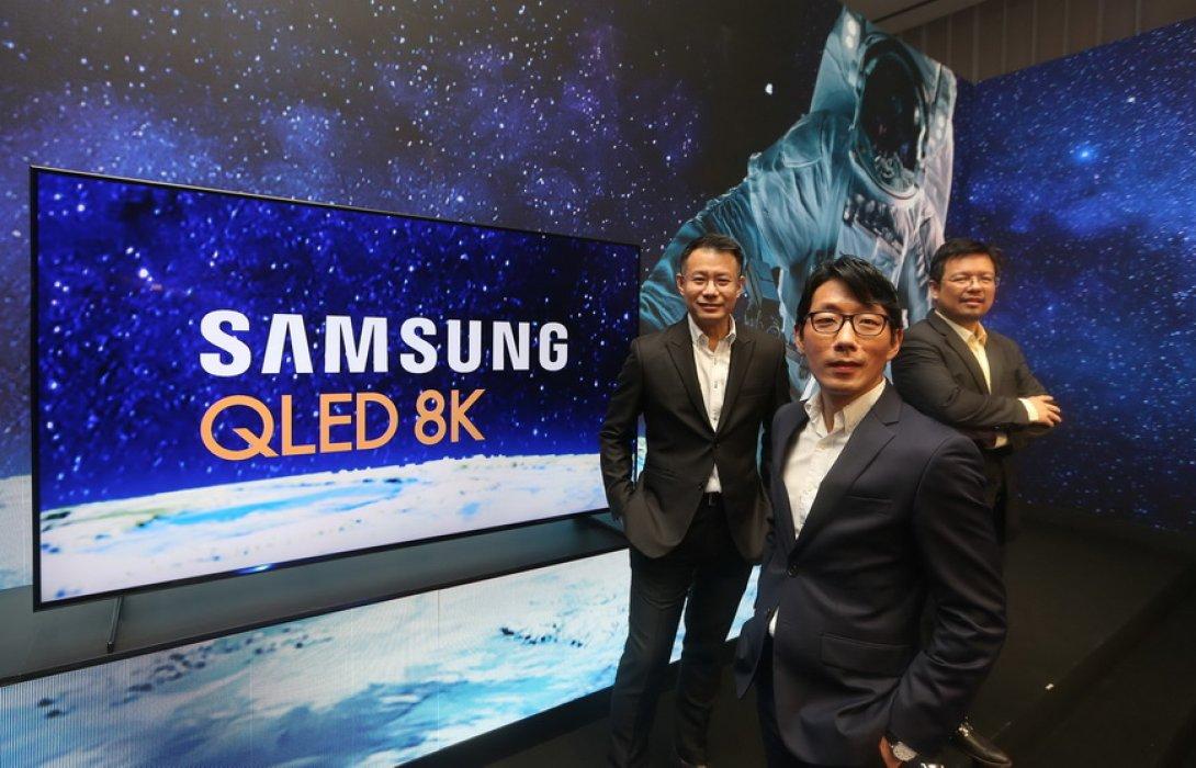 """""""ซัมซุง"""" ชี้ ตลาดรวมทีวีพรีเมี่ยมแชร์ยืนหนึ่ง ส่ง """"คิว แอลอีดี 8K"""" รั้งผู้นำในตลาดทีวี 8K"""