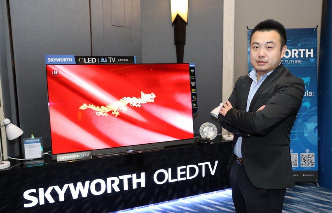 """""""สกายเวิร์ท"""" เข็น 3 แบรนด์ ลุยหนักตลาดทีวี AIoT ในไทย เป้า 5 ปี ขึ้นแท่นท็อป 3 ในไทย"""