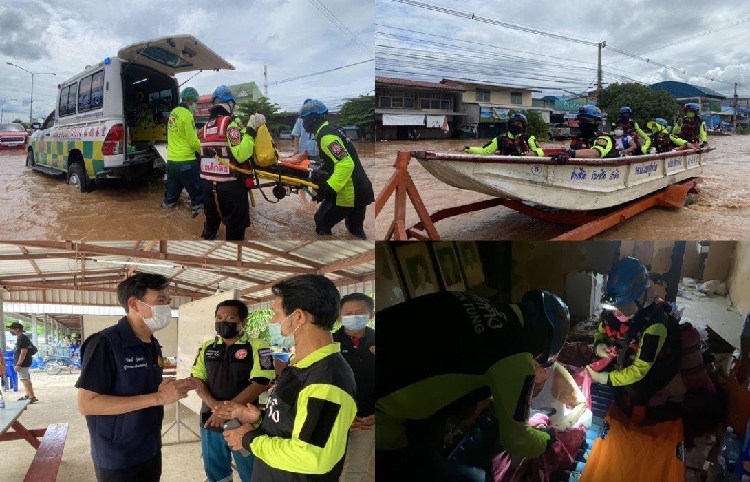 ทีมบรรเทาสาธารณภัย มูลนิธิป่อเต็กตึ๊ง รุดลงพื้นที่จ.ลพบุรี! เร่งอพยพผู้ประสบภัยน้ำท่วมในพื้นที่อำเภอลำสนธิ จ.ลพบุรี