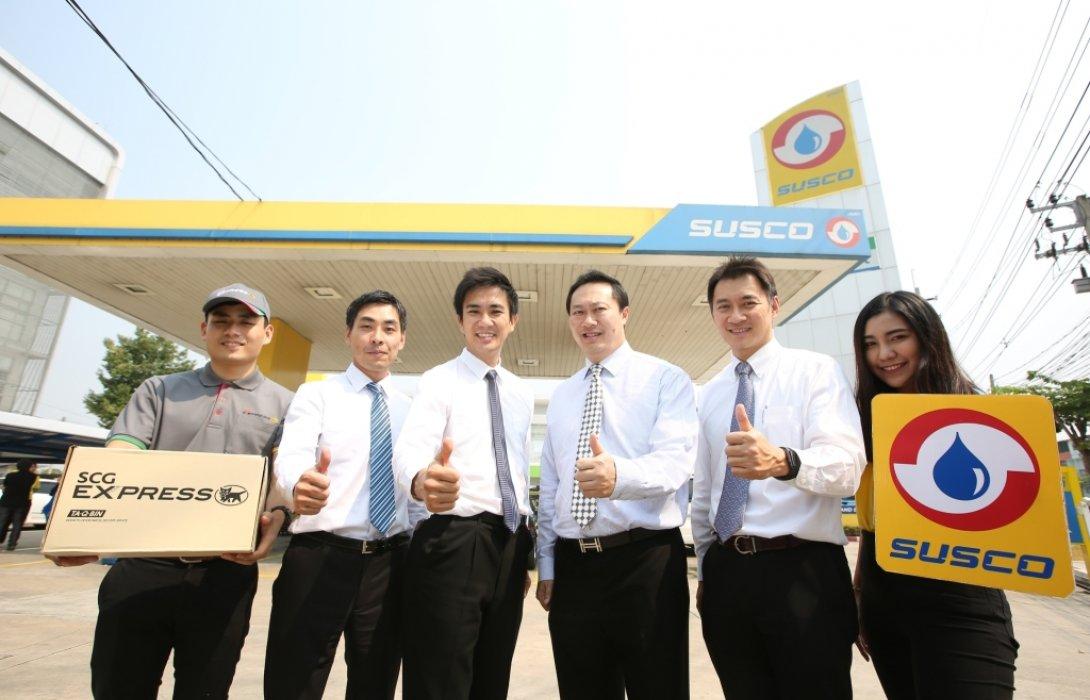 """""""เอสซีจี เอ็กซ์เพรส""""เตรียมขยายจุดให้บริการทั่วไทยภายในปี 61 พร้อมร่วมมือ""""ซัสโก้""""เปิดจุดบริการรับพัสดุที่สถานีน้ำมัน"""