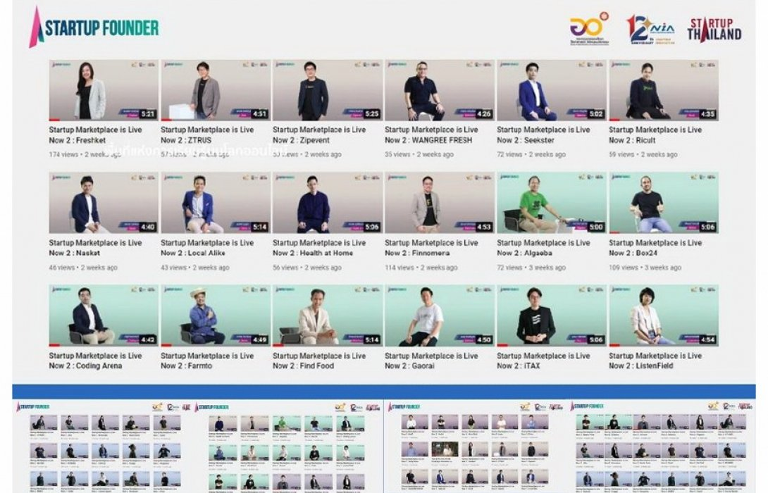 """""""NIA"""" อัพ 50 ไอเดียธุรกิจสตาร์ทอัพสู่ช่อง """"Startup Thailand Youtube"""" ปลุกสตาร์ทอัพ ปั้นธุรกิจรับเทรนด์อนาคต"""