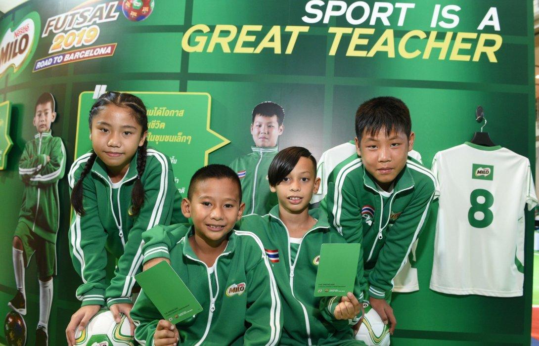 ไมโล ฟุตซอลฉลอง 10 ปี แจก'กรีนการ์ด' ครั้งแรกในไทยหนุนเด็กไทยโชว์สปิริตน้ำใจนักกีฬา