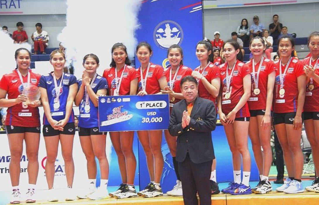 ตบสาวไทยคว้าแชมป์แซทไทยแลนด์ วอลเลย์บอล อินวิเตชั่น 2019
