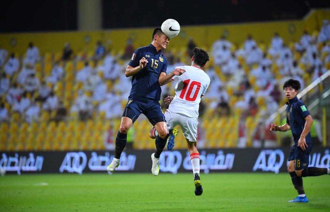 ทีมชาติไทย บุกแพ้ ยูเออี 1-3 คัดบอลโลก อดเข้ารอบ 12 ทีมสุดท้าย