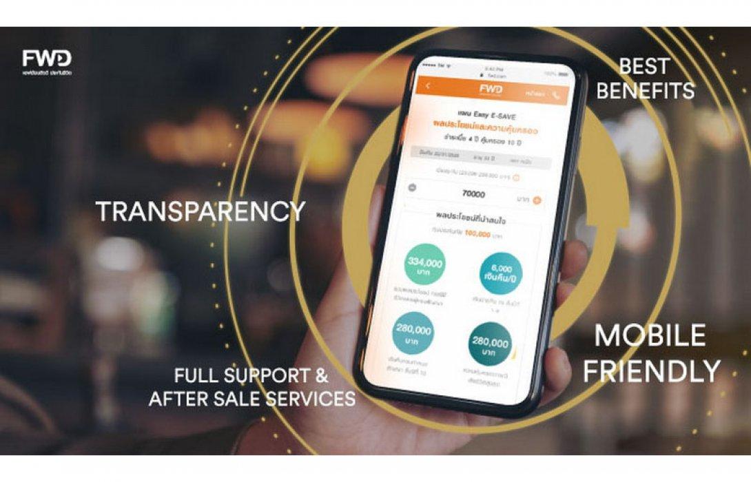 เอฟดับบลิวดี ขายประกันสะสมทรัพย์ Easy E-SAVE ผ่านช่องทางออนไลน์ สมัครง่าย จ่ายปั๊บ รับความคุ้มครองทันที