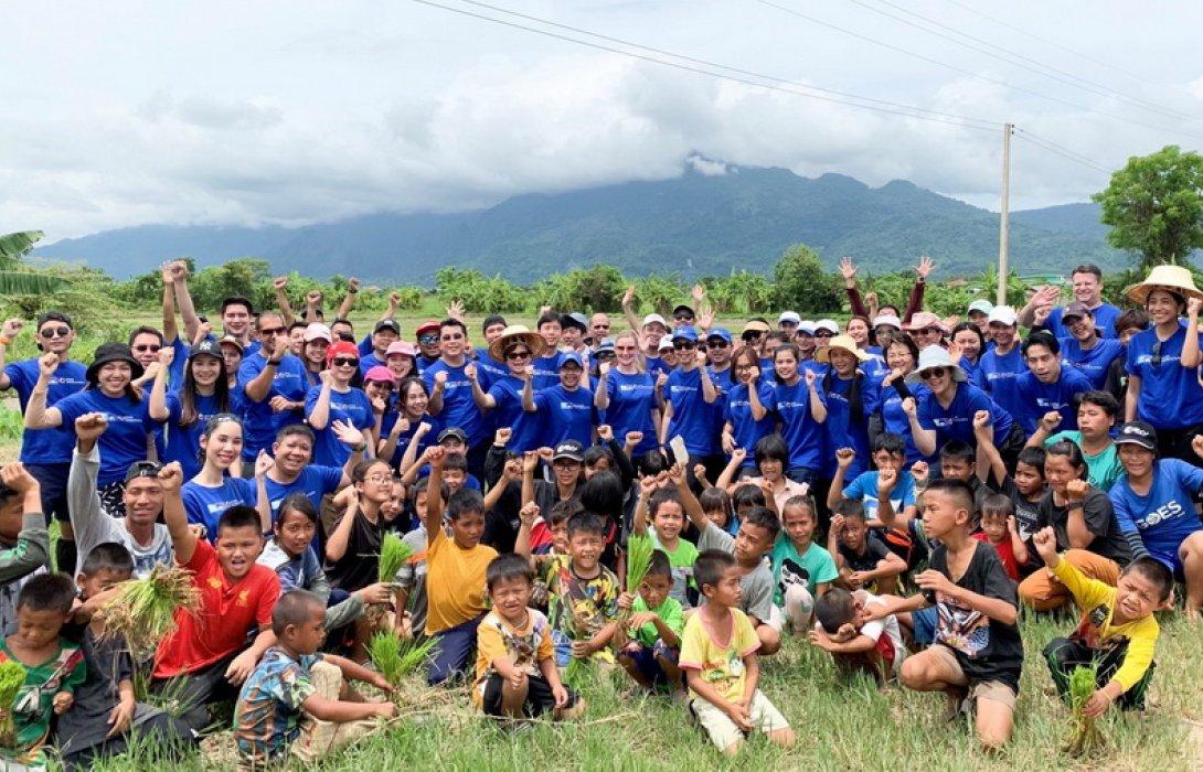 """กรุงไทย-แอกซ่า ประกันชีวิต จัดกิจกรรม """"สร้างแผ่นดินทอง เพื่อน้องๆ บ้านนานา ปีที่ 12"""""""
