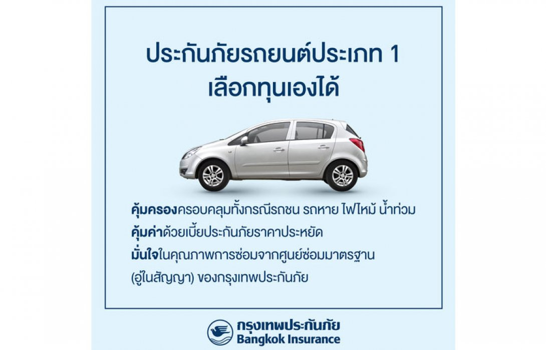 BKI เอาใจคนรักรถจัดโปรคุ้มค่าสำหรับลูกค้าประกันภัยรถชั้น 1 แบบเลือกทุนเองได้