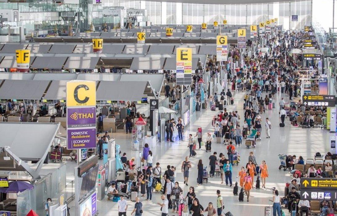 """6 สนามบินไทยผู้โดยสารพุ่งปี๊ด!  """"สุวรรณภูมิ"""" แน่นเอี๊ยด 64.7 ล้านคน"""