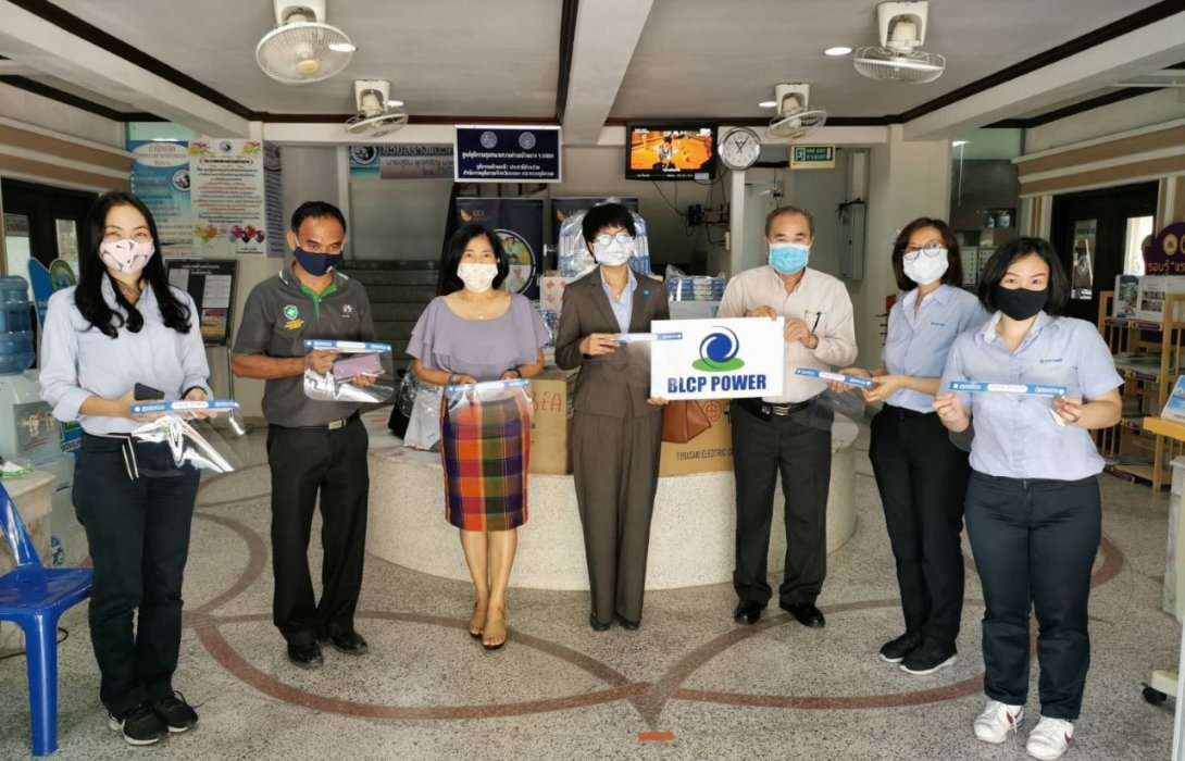 BLCP หนุนชุมชนผลิตหน้ากากผ้า และหน้ากาก Face Shields สร้างรายได้ต่อเนื่องเป็นเงินกว่า 3.8 แสนบาท